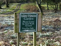 Park at Islay House and pick up veg at the community garden. Snowdrops in February give way to daffodils, then bluebells.